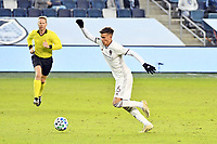 KANSAS CITY, KS - OCTOBER 24: Cole Bassett #26 Colorado Rapids with the ball during a game between Colorado Rapids and Sporting Kansas City at Children's Mercy Park on October 24, 2020 in Kansas City, Kansas.
