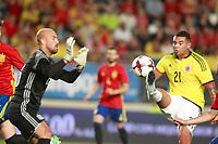 Spain's Pepe Reina (l) and Colombia's Edwin Cardona during international friendly match. June 7,2017.(ALTERPHOTOS/Acero) (NortePhoto.com) (NortePhoto.com)