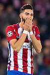 Yannick Ferreira Carrasco of Atletico de Madrid celebrates during their 2016-17 UEFA Champions League match between Atletico Madrid and FC Rostov at the Vicente Calderon Stadium on 01 November 2016 in Madrid, Spain. Photo by Diego Gonzalez Souto / Power Sport Images