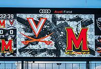 WASHINGTON, DC - SEPTEMBER 6: Audi Field video screen before a game between University of Virginia and University of maryland at Audi Field on September 6, 2021 in Washington, DC.