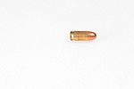 a bullet on a white background