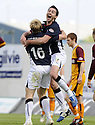 02/05/2009  Copyright  Pic : James Stewart.sct_jspa03_falkirk_v_motherwell.CARL FINNIGAN CELEBRATES AFTER HE SCORES FALKIRK'S FIRST.James Stewart Photography 19 Carronlea Drive, Falkirk. FK2 8DN      Vat Reg No. 607 6932 25.Telephone      : +44 (0)1324 570291 .Mobile              : +44 (0)7721 416997.E-mail  :  jim@jspa.co.uk.If you require further information then contact Jim Stewart on any of the numbers above.........
