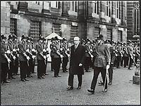 Guard of Honor welcome President Gustav   Heidemann, Date: November 24, 1969