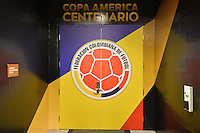 Santa Clara, CA - Friday June 03, 2016: Exterior of Colombia locker room prior to a Copa America Centenario Group A match between United States (USA) and Colombia (COL) at Levi's Stadium.
