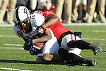 December 30, 2016: TCU wide receiver Desmon White (10) being tackled by Maurice Smith (2) of Georgia in the second half of the AutoZone Liberty Bowl at Liberty Bowl Memorial Stadium in Memphis, Tennessee. ©Justin Manning/Eclipse Sportswire/Cal Sport Media