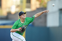 Gwinnett Stripers starting pitcher Tucker Davidson (56) delivers a pitch to the plate against the Scranton/Wilkes-Barre RailRiders at Coolray Field on August 16, 2019 in Lawrenceville, Georgia. The Stripers defeated the RailRiders 5-2. (Brian Westerholt/Four Seam Images)