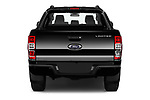 Straight rear view of 2018 Ford Ranger Limited-Black-Edition 4 Door Pick-up Rear View  stock images
