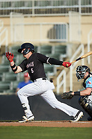 at Kannapolis Intimidators Stadium on May 6, 2019 in Kannapolis, North Carolina. The Crawdads defeated the Intimidators 2-1 in game one of a double-header. (Brian Westerholt/Four Seam Images)