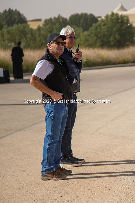 RIYADH,SAUDI ARABIA-FEB 27: Bob Baffert and his assistant trainer,Jimmy Barnes (Mucho Gusto and McKinzie) at King Abdulaziz Racetrack on February 28,2020 in Riyadh,Saudi Arabia. Kaz Ishida/Eclipse Sportswire/CSM