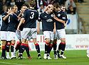 21/09/2010   Copyright  Pic : James Stewart.sct_jsp003_falkirk_v_hearts  .:: MARK STEWART IS CONGRATULATED AFTER HE  SCORES FALKIRK'S FIRST :: .James Stewart Photography 19 Carronlea Drive, Falkirk. FK2 8DN      Vat Reg No. 607 6932 25.Telephone      : +44 (0)1324 570291 .Mobile              : +44 (0)7721 416997.E-mail  :  jim@jspa.co.uk.If you require further information then contact Jim Stewart on any of the numbers above.........