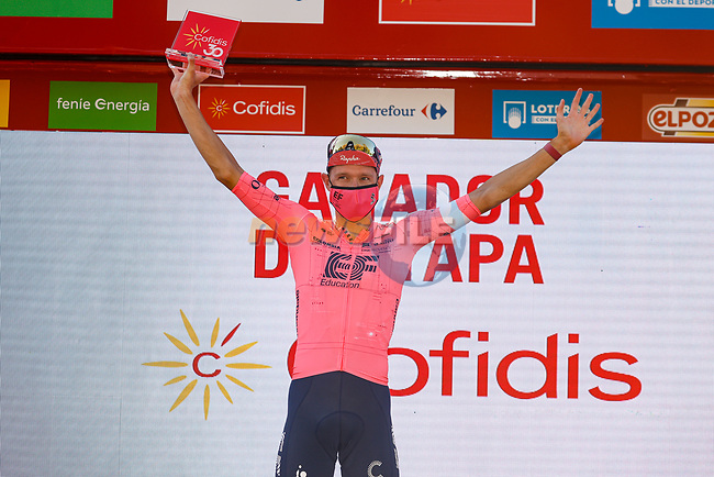 Magnus Cort Nielsen (DEN) EF Education-Nippo wins Stage 12 of La Vuelta d'Espana 2021, running 175km from Jaén to Córdoba, Spain. 26th August 2021.     <br /> Picture: Luis Angel Gomez/Photogomezsport | Cyclefile<br /> <br /> All photos usage must carry mandatory copyright credit (© Cyclefile | Luis Angel Gomez/Photogomezsport)