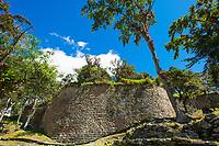 Gewaltige Ruine in der Festung von Kuelap des Volk der Chachapoya, Provinz Luya, Region Amazonas, Peru, Südamerika