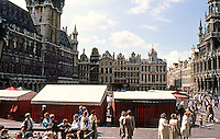 Brussels: Grand Place. Looking west from porch of house of the Dukes of Brabant.  Photo '87.