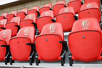 Business seats pictured at Stade Maurice Dufrasne before a female soccer game between Standard Femina de Liege and KAA Gent Ladies on the second match day of the 2021 - 2022 season of Belgian Scooore Womens Super League , Saturday 28 th of August 2021  in Liege, Belgium . PHOTO SPORTPIX | SEVIL OKTEM