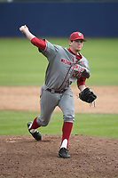Joe Rosenstein (39) of the Washington State Cougars pitches against the Loyola Marymount Lions at Page Stadium on February 26, 2017 in Los Angeles, California. Loyola defeated Washington State, 7-4. (Larry Goren/Four Seam Images)