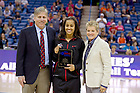 Apr 6, 2013; Skylar Diggins receives the WBCA Coaches' All-America Basketball Team award at the New Orleans Arena. Photo by Barbara Johnston/ University of Notre Dame