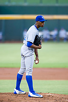 AZL Royals starting pitcher Marlin Willis (28) looks to his catcher for the sign against the AZL Cubs on July 19, 2017 at Sloan Park in Mesa, Arizona. AZL Cubs defeated the AZL Royals 5-4. (Zachary Lucy/Four Seam Images)