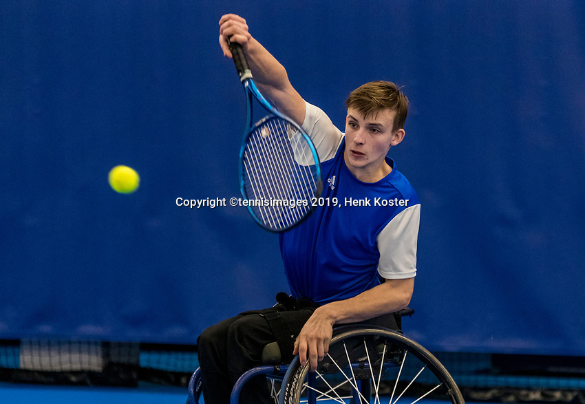 Amstelveen, Netherlands, 8  December, 2020, National Tennis Center, NTC, NKR, National  Indoor Wheelchair Tennis Championships, Men's single: Maarten ter Hofte (NED)<br /> Photo: Henk Koster/tennisimages.com