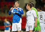 St Johnstone v Hibs..28.11.12      SPL.Steven MacLean reacts after a missed chance.Picture by Graeme Hart..Copyright Perthshire Picture Agency.Tel: 01738 623350  Mobile: 07990 594431