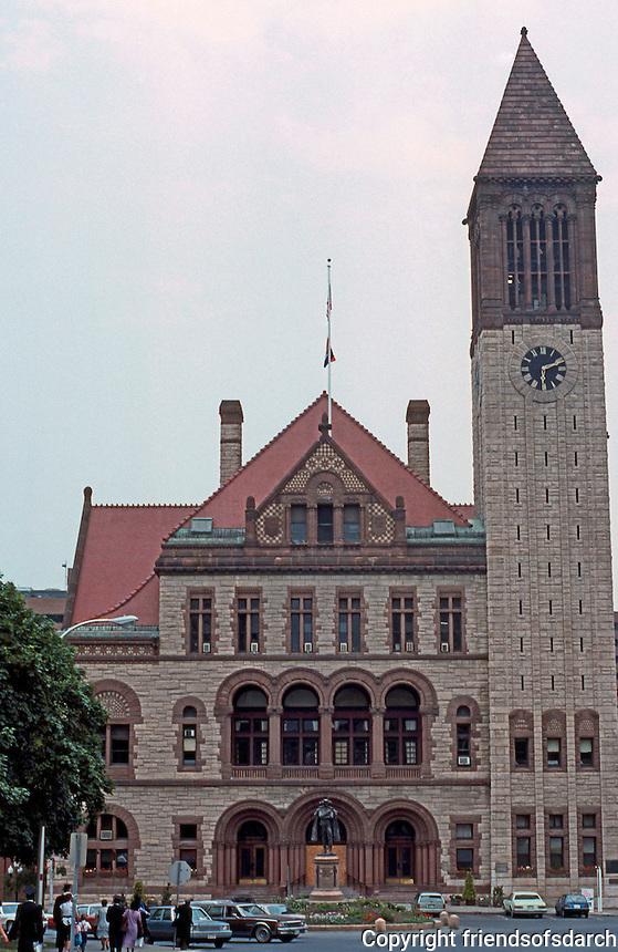H. H. Richardson: Albany City Hall, Elevation.