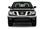 Car photography straight front view of a 2016 Nissan Frontier SV 4 Door Pick-up Front View