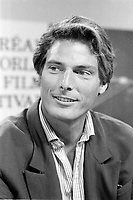 August 23, 1987 File Photo - Montreal (Qc) Canada - Christopher Reeves  at the 1987 World Film Festival.