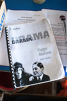 "The script, dress rehearsal for school production of ""Bugsy Malone"", state secondary school."