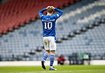 St Mirren v St Johnstone…09.05.21  Scottish Cup Semi-Final Hampden Park <br />David Wotherspoon holds his head after midding a chance to score<br />Picture by Graeme Hart.<br />Copyright Perthshire Picture Agency<br />Tel: 01738 623350  Mobile: 07990 594431
