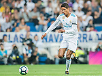Raphael Varane of Real Madrid in action  during the La Liga 2017-18 match between Real Madrid and Real Betis at Estadio Santiago Bernabeu on 20 September 2017 in Madrid, Spain. Photo by Diego Gonzalez / Power Sport Images