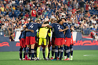 FOXOBOROUGH, MA - AUGUST 21: New England Revolution starting eleven during a game between FC Cincinnati and New England Revolution at Gillette Stadium on August 21, 2021 in Foxoborough, Massachusetts.