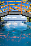 Bridge over infinity pool at resort on Tokoriki Island (Sheraton Resort & Spa) in the Mamanuca's, Fiji Islands