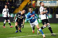 Adam Ounas of Napoli celebrates after scoring a goal<br /> Parma 24-02-2019 Ennio Tardini <br /> Football Serie A 2018/2019 Parma - Napoli <br /> Foto Image Sport / Insidefoto