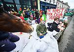 Sarah O Neill, Luke Kilkenny and Fionn O Sullivan in their float at the St Patrick's Day parade in Killaloe. Photograph by John Kelly.