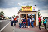 Wechselstube an der ehemaligen Grenzstation in Dolni Dvoriste.
