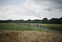 peloton through the fields<br /> <br /> Belgian National Road Cycling Championships 2016<br /> Les Lacs de l'Eau d'Heure