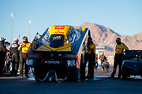 Oct 31, 2020; Las Vegas, Nevada, USA; NHRA funny car driver J.R. Todd during qualifying for the NHRA Finals at The Strip at Las Vegas Motor Speedway. Mandatory Credit: Mark J. Rebilas-USA TODAY Sports