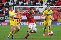 Marcus Maddison of Charlton Athletic shakes off a challenge from AFC Wimbledon's Anthony Hartigan during Charlton Athletic vs AFC Wimbledon, Sky Bet EFL League 1 Football at The Valley on 12th December 2020