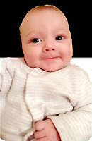 Pictured: Cory Rhys Jones.<br /> Re: Rugby player Mathew Jones, who has been found guilty of killing his baby son Cory Rhys by shaking him to death, and is due to be sentenced today (Wed 17 July 2019) at Newport Crown Court, Wales, UK