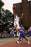 Dexter Strickland (5) goes up for a layup during the Elite 24 Hoops Classic game on September 1, 2006 held at Rucker Park in New York, New York.  The game brought together the top 24 high school basketball players in the country regardless of class or sneaker affiliation.
