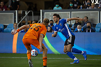 SAN JOSE, CA - JULY 24: Cade Cowel #44 during a game between Houston Dynamo and San Jose Earthquakes at PayPal Stadium on July 24, 2021 in San Jose, California.