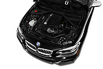 Car Stock 2016 BMW 2 Series M235i 2 Door Coupe Engine  high angle detail view