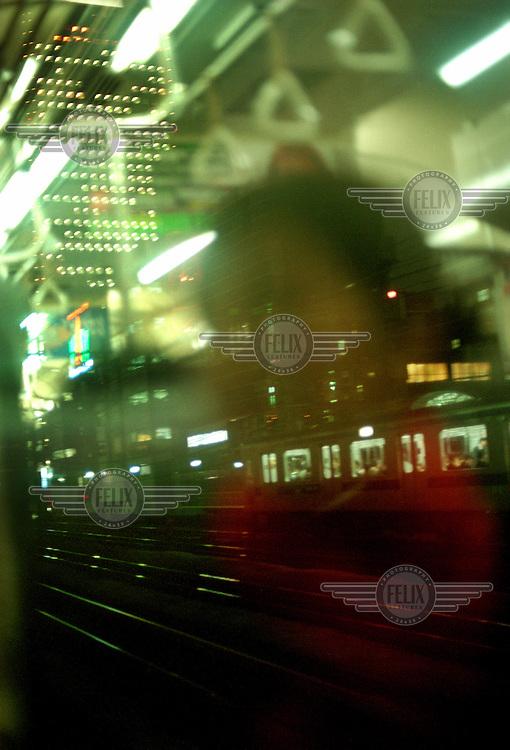 Passing trains.