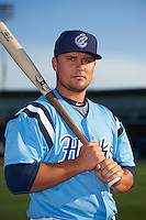 Corpus Christi Hooks third baseman J.D. Davis (26) poses for a photo before a game against the Frisco RoughRiders on April 23, 2016 at Whataburger Field in Corpus Christi, Texas.  Corpus Christi defeated Frisco 3-2.  (Mike Janes/Four Seam Images)