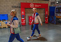 CARSON, CA - FEBRUARY 9: Sam Mewis #3 of the United States arrives during a game between Canada and USWNT at Dignity Health Sports Park on February 9, 2020 in Carson, California.