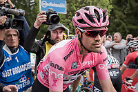 Tom Dumoulin (NED/Sunweb) on his way to the daily podium ceremony<br /> <br /> Stage 17: Tirano › Canaze (219km)<br /> 100th Giro d'Italia 2017