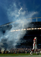 Sep 25, 2005; Seattle, WA, USA; The Arizona Cardinals take to the field prior to their game against the Seattle Seahawks at Qwest Field. Mandatory Credit: Photo By Mark J. Rebilas