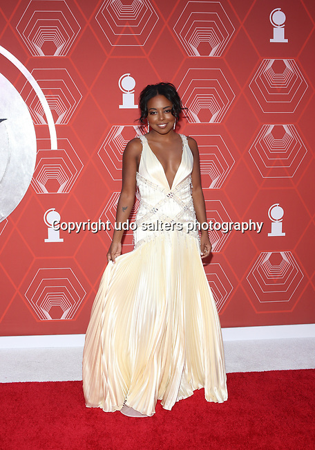 Adrienne Warren attends the 74th Tony Awards-Broadway's Back! arrivals at the Winter Garden Theatre in New York, NY, on September 26, 2021. (Photo by Udo Salters/Sipa USA)