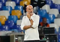 Stefano Pioli coach of Milan  during the  italian serie a soccer match,  SSC Napoli - AC Milan       at  the San  Paolo   stadium in Naples  Italy , July 12, 2020