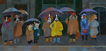 """""""Waiting in the Rain""""<br /> Limited Edition Giclee 10x20<br /> SN Canvas $700<br /> AP Paper w/Original Watercolor Remarque $1,300<br /> <br /> Guy Buffet absolutely loves dogs and this is a perfect example of his admiration of the canine species."""