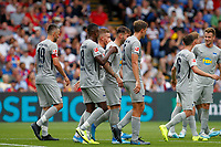 GOAL - Marvin Plattenhardt of Hertha Berlin scores during the pre season friendly match between Crystal Palace and Hertha BSC at Selhurst Park, London, England on 3 August 2019. Photo by Carlton Myrie / PRiME Media Images.